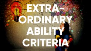 extraordinary ability criteria