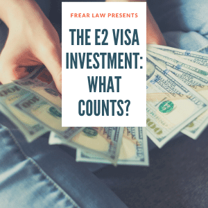 common expenses for your e2 visa investment