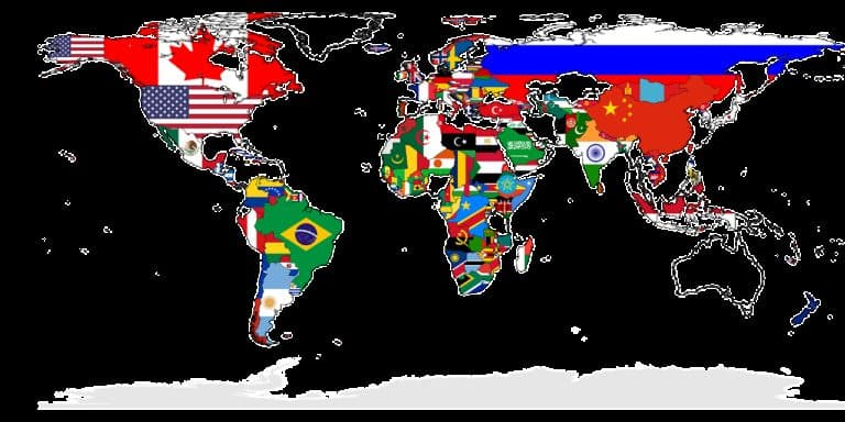 world, map, countries